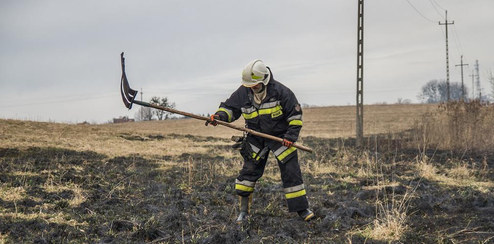 W Mikołajkach rozpoczęły się pożary traw