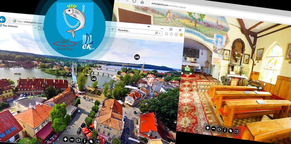 Wirtualny spacer po Mikołajkach