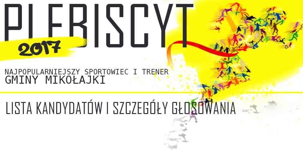 Zagłosuj na sportowca i trenera Gminy Mikołajki!