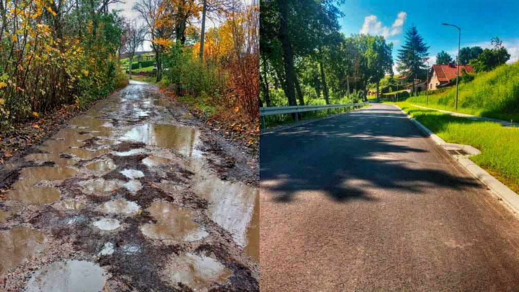 Nowa droga w Zełwągach - mieszkańcy dziękują